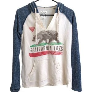 Billabong Oversized Terry Cloth Cali Love Hoodie